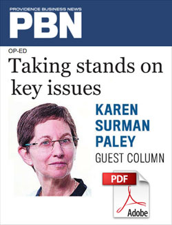 Providence Business News Article - Taking Stands on Key Issues